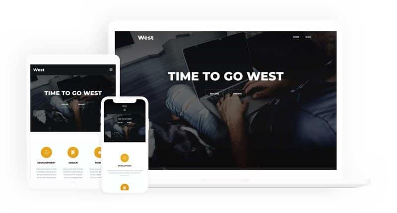 West WordPress Theme basic layout