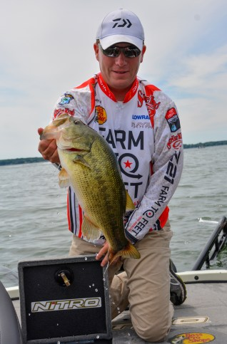 Rooming with Bass Nomad this week obvioiusly paid off for Andy Montgomery on day 1! Photo by Joel Shangle.
