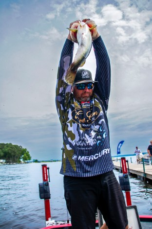 Epic Fish Pull of the Year goes to Brett Hite with this giant. Photo by Joel Shangle.