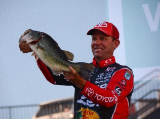 Kevin VanDam was still on a big-fish roll from Toledo Bend. Photo by Joel Shangle.