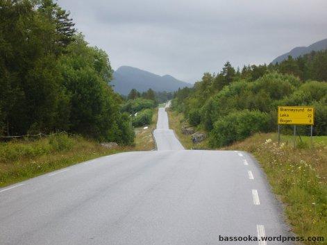 Typisch Norwegen: Es geht im ständigen Wechsel rauf und runter