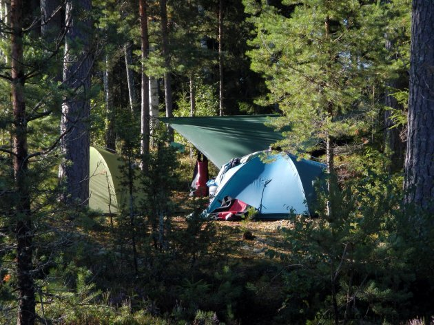 Größenvergleich Tarp - Zelt