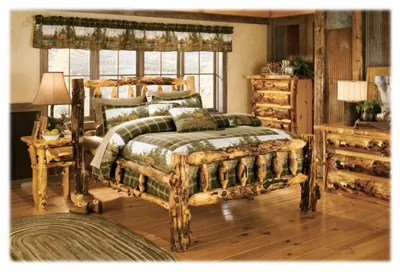 mountain woods furniture grizzly log bed