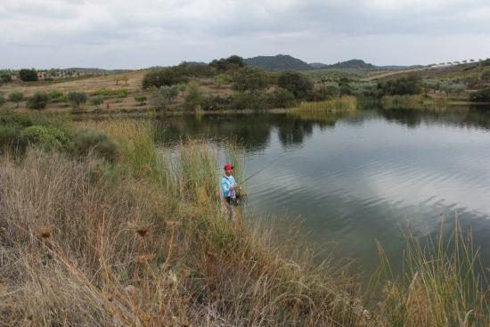 André Jonas em acção de pesca