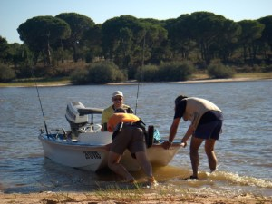 Colocar o barco na água
