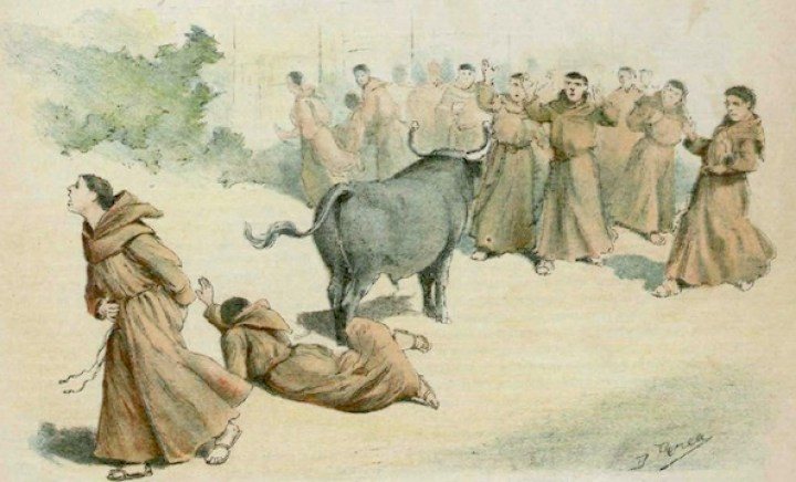 a igreja e as touradas