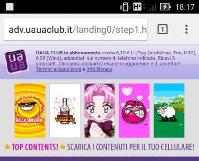 foto uauaclub landing page
