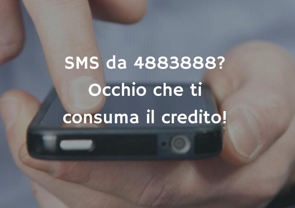 4883888: Se ricevi un SMS da questo numero… Ti hanno appena preso 5 €!