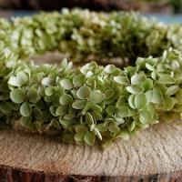 Bastelanleitung Hortensienkranz binden