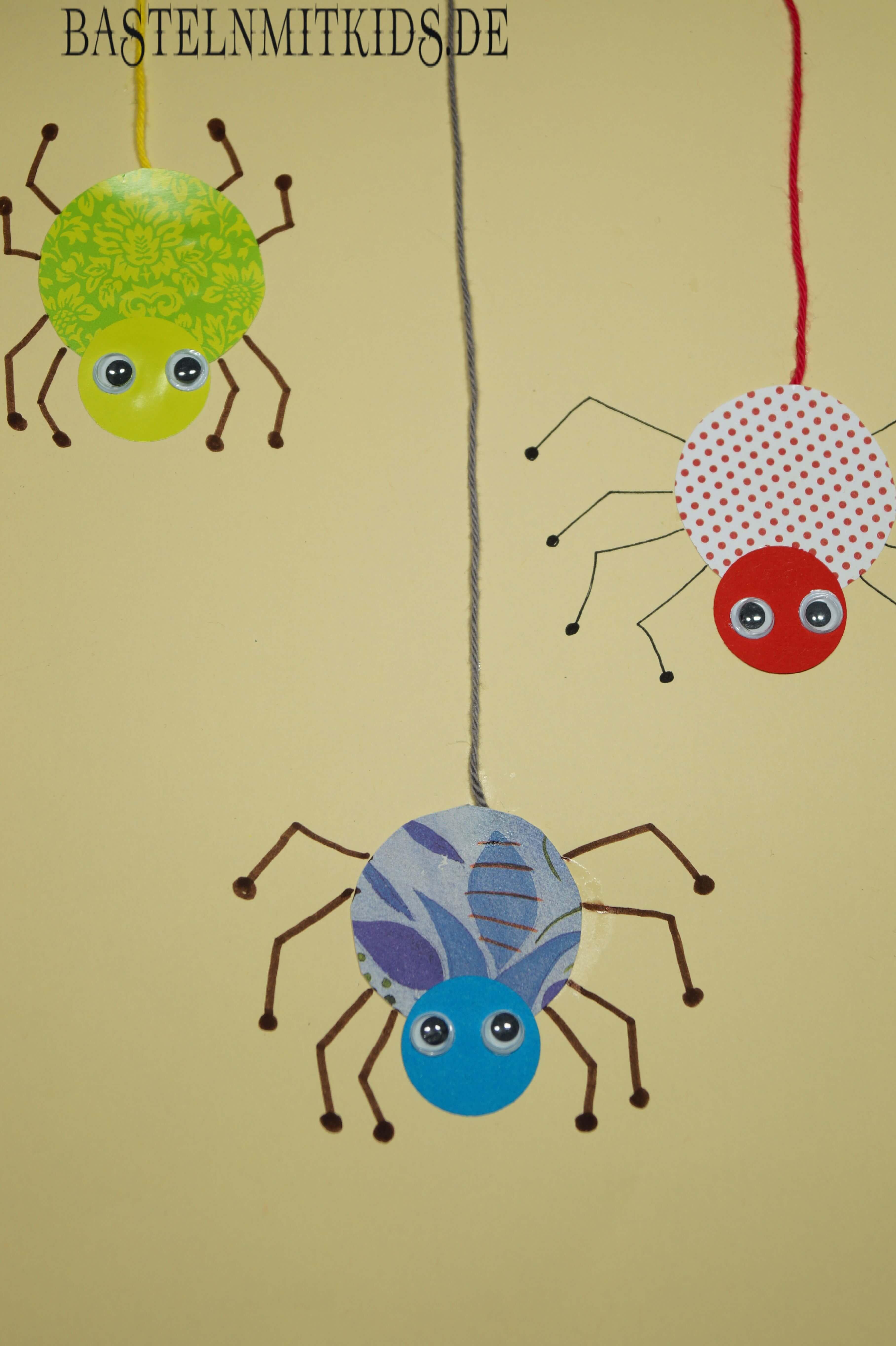 Bunte Spinnen Basteln Basteln Mit Kindern Und Kleinkindern