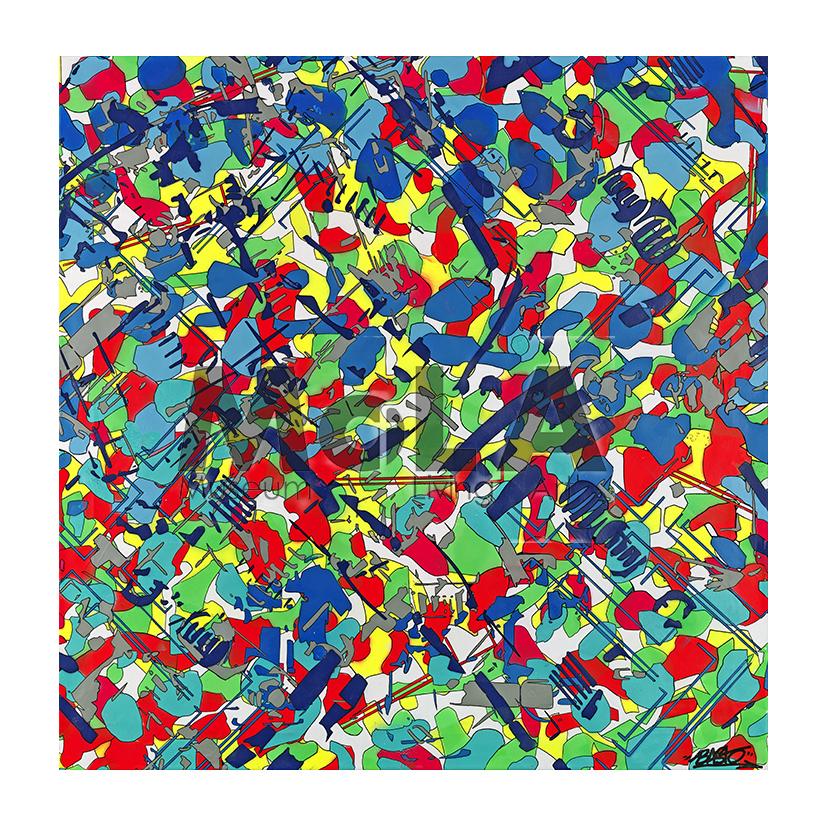 2016 80 x 80 cm Papier Hahnemuhle Photo Rag® 308 gr EPSON. Tirage 2 exemplaires numérotés et signés par l'artiste. Collection MoLA Paris.