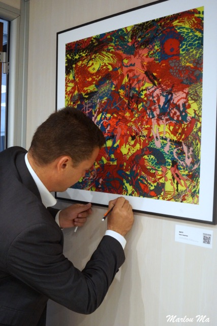 2015 80 x 80 cm signed 1/2 x MoLA (Museum Of Living Art) grand opening at EPSON France headquarter.