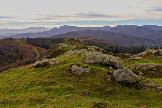 Vistas desde la cima de Galtzarrieta.