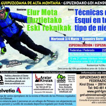 Curso Tecnicas de Esqui