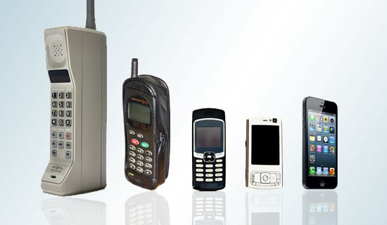 Mobile phones over the years
