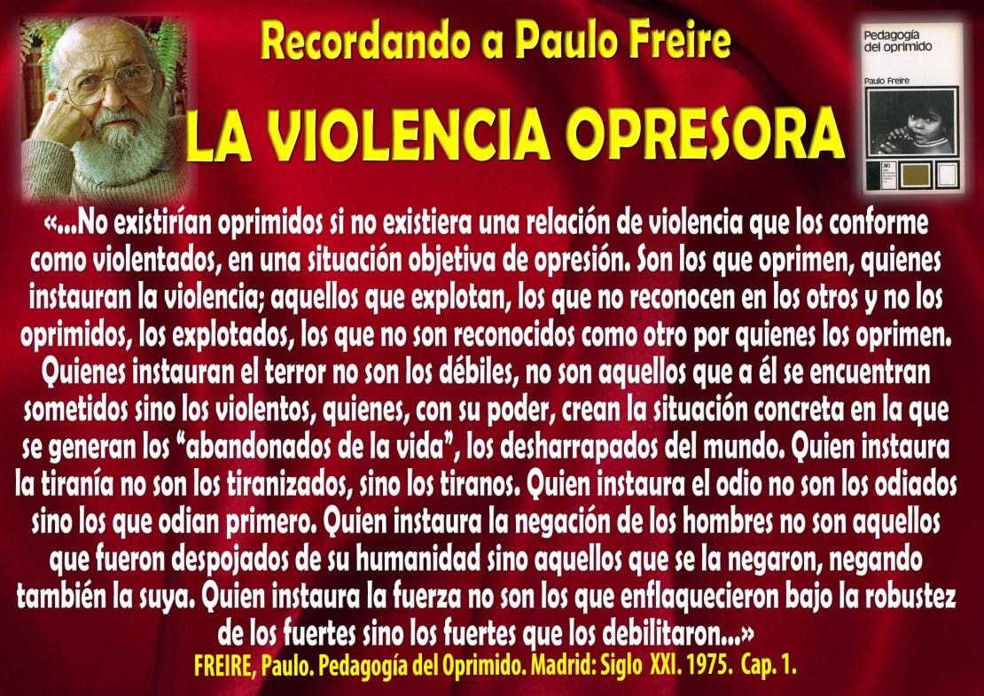 La violencia opresora