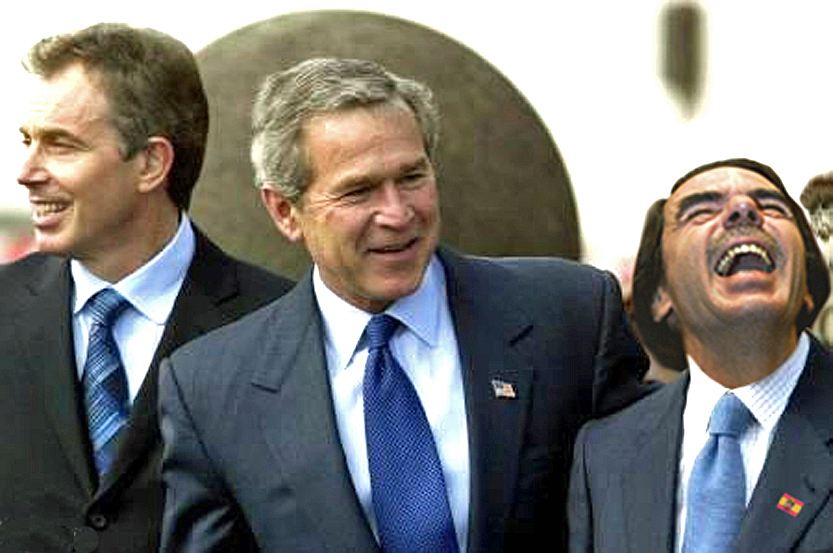 2003 Trío de las Azores. Invasión de Irak