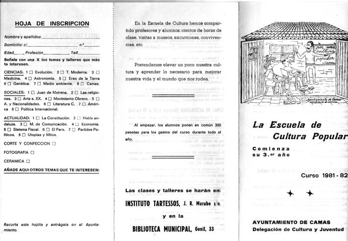 Programa de Actividades de la ECP: 81/82 (a)