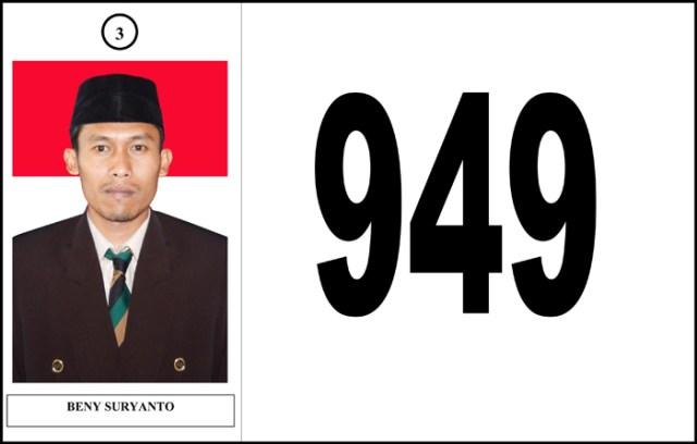 Beny suryanto, kepala Desa terpilih yang hari ini dilantik oleh bupati wonogiri/design:gunawan w ©batas.id