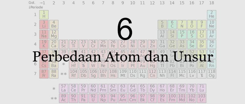 6 Perbedaan Atom dan Unsur