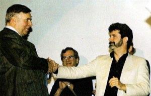 O único encontro entre Gene Roddenberry e George Lucas