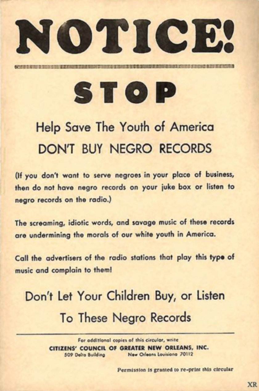 Don't Buy Negro Records