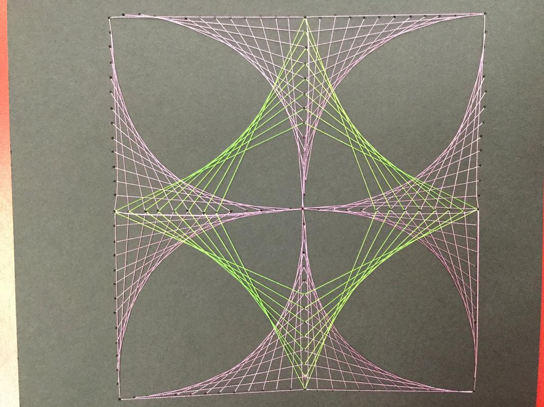 Parabolic String Art Designs
