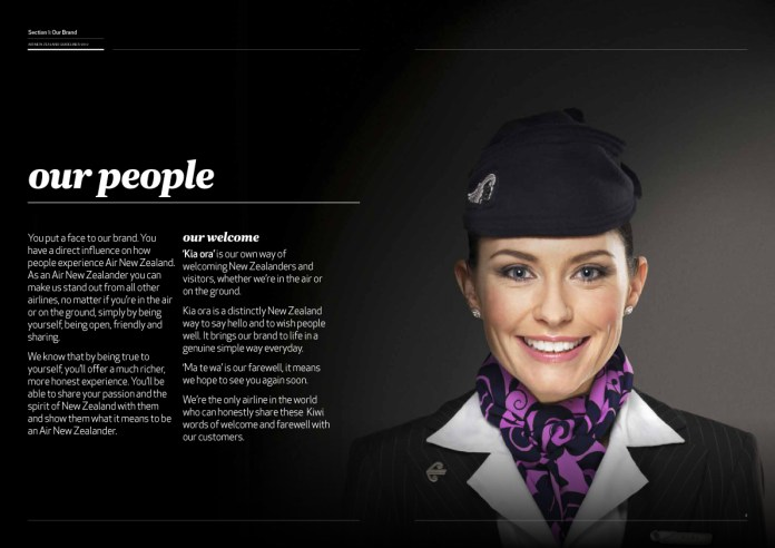 Air New Zealand Brand Guidelines Page 4