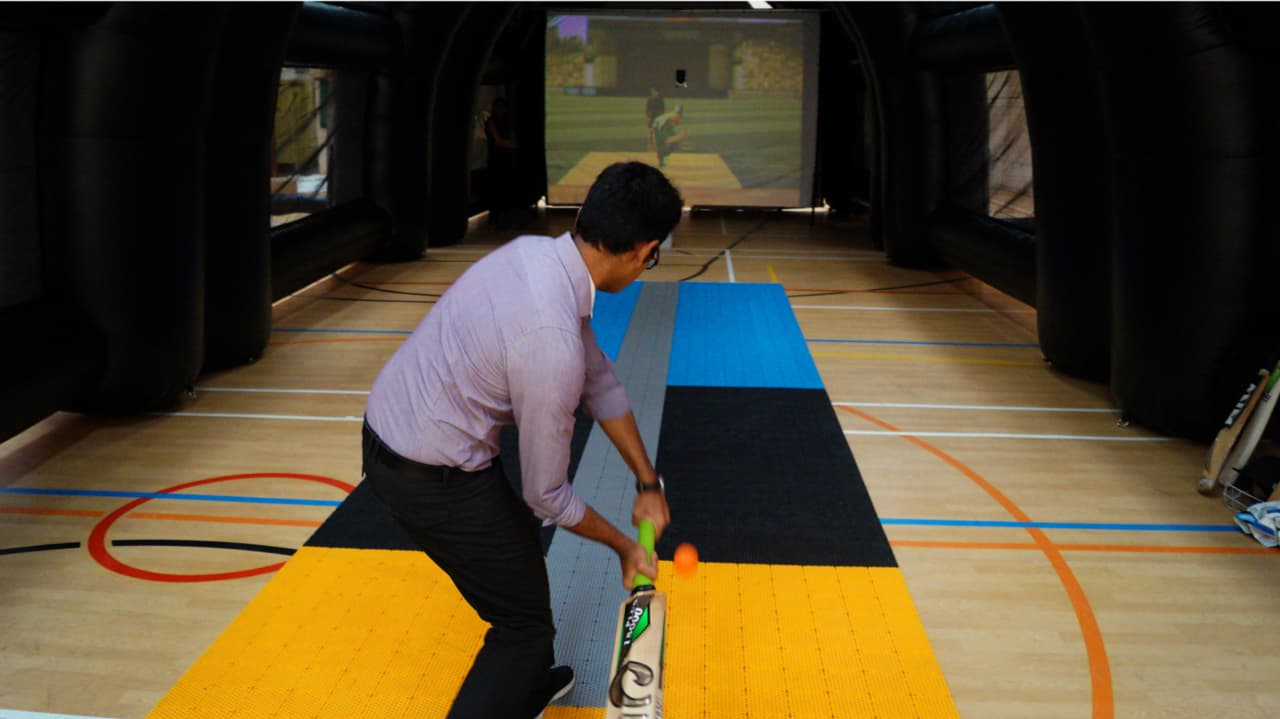 Batfast Cricket Simulator Inflatables - Play View