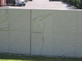 Flood control wall art