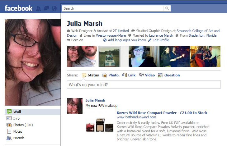 This is and example of how your post looks on Facebook.
