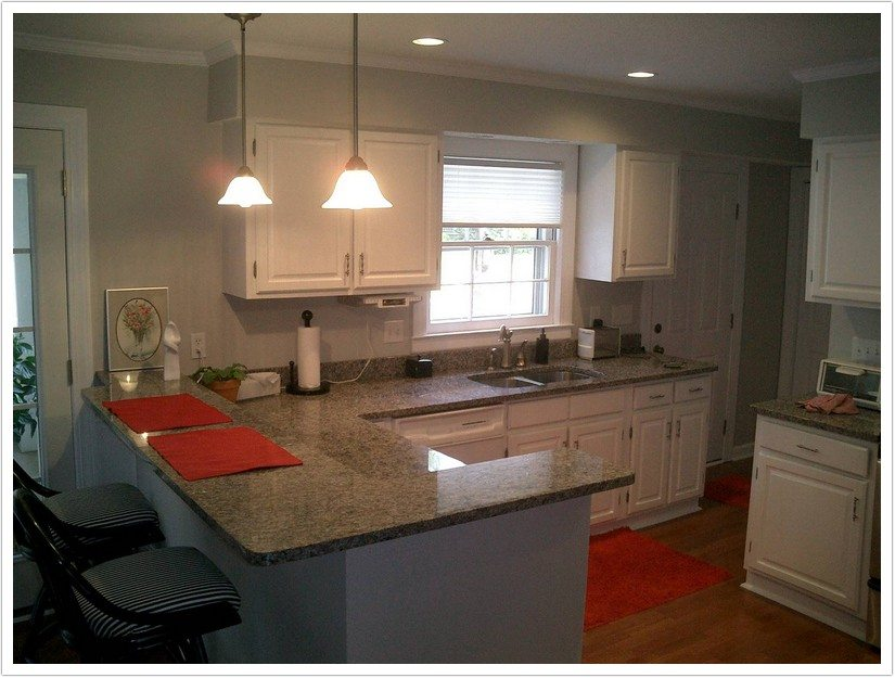 White Grey Kitchen Cabinets Countertops