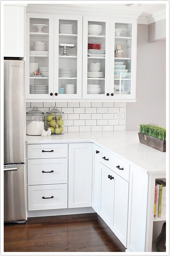 Grey And White Country Kitchen