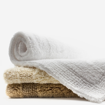 tapis de bain blanc 2200 g m coton reversible