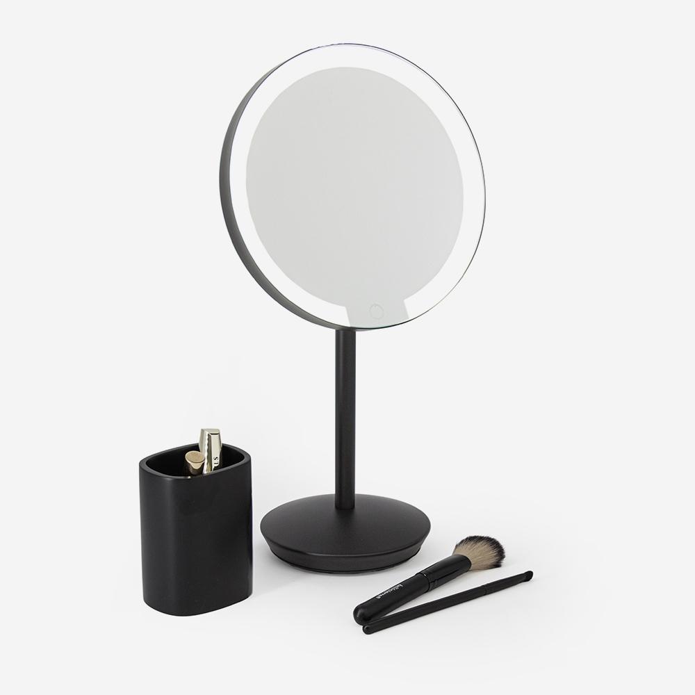 Miroir Noir Mat A Led Grossissant X7 Day