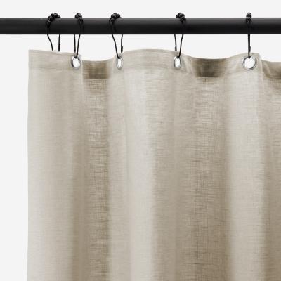 rideau de douche naturel enduit lin 210 x 200 cm lino