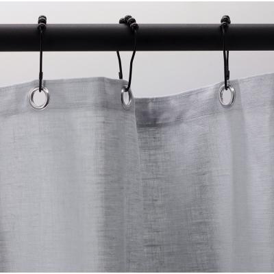 rideau de douche gris perle enduit lin 210 x 200 cm lino