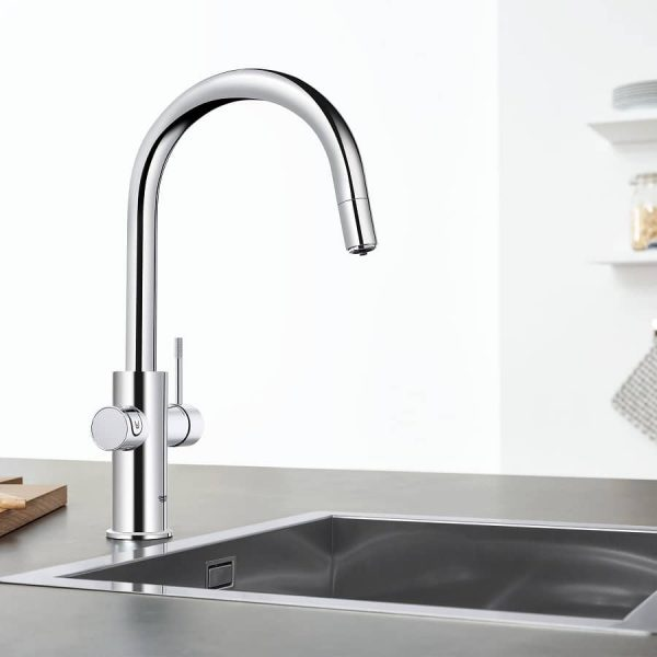 grohe 31251002 blue kitchen faucet