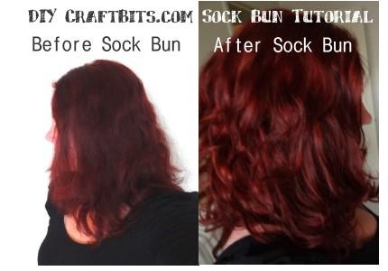 sock-bun soft curls