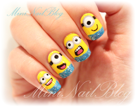 DIY-Nail-art-despicable-me-nail-art-1