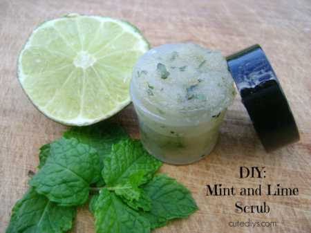 DIY – Mint and Lime Sugar Scrub