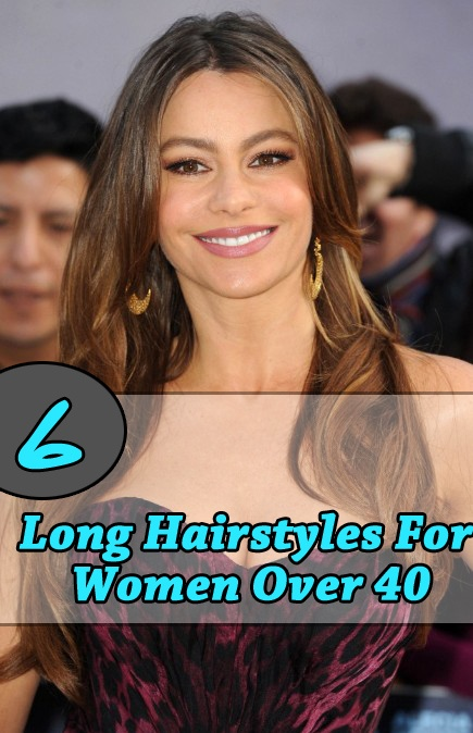 6 Long Hair styles for over 40's