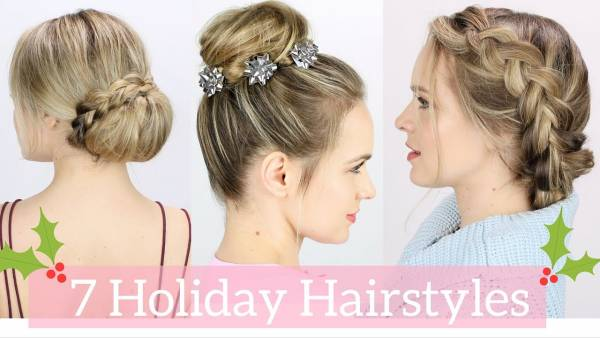 7 diy easy christmas party hairstyles bath and body