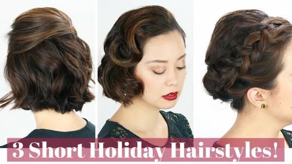 DIY Christmas Hair Styles For Short Hair – Bath and Body