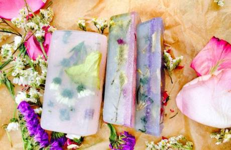 Make Your Own Floral Soaps