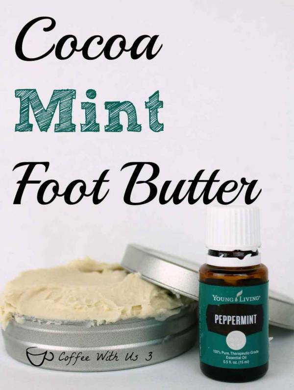 DIY Cocoa Mint Foot Butter