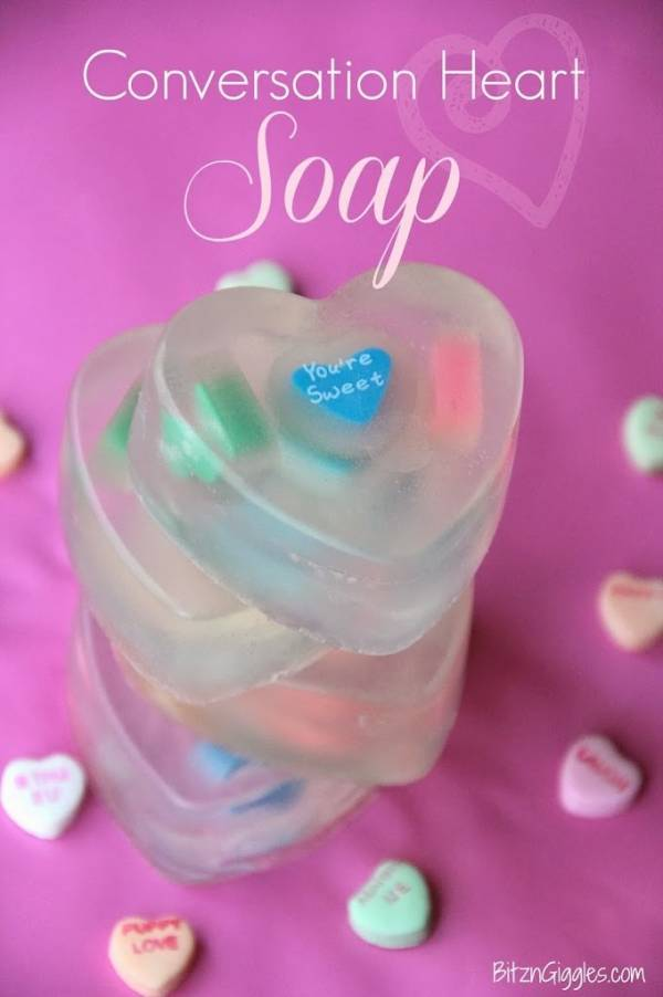 Valentine's Day Conversation Heart Soap Tutorial