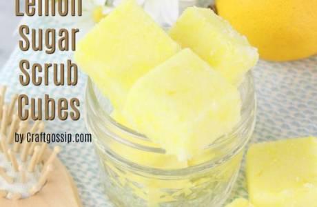 DIY Lemon Sugar Scrub Cubes