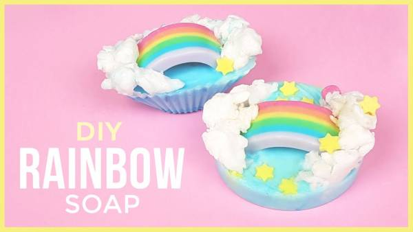 Crazy Easy!  DIY  Rainbow Soaps