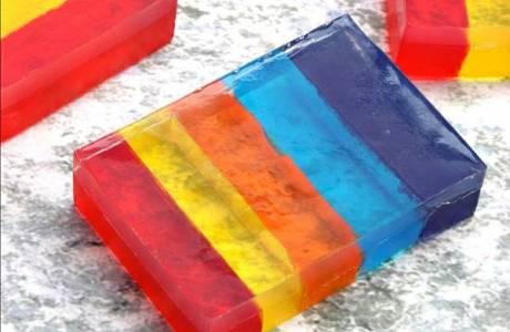 Rainbow Layered Soap